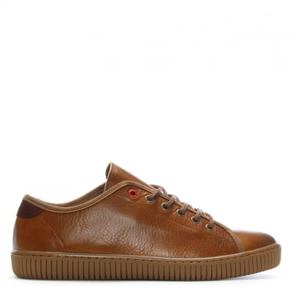 Spence Tan Leather Lace Up Trainers