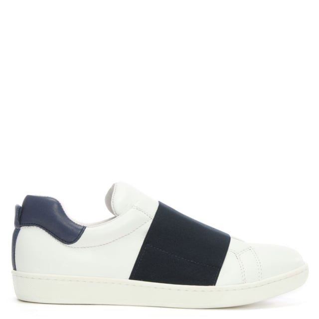 spirea-navy-and-white-leather-elastic-trim-trainer