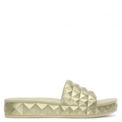 Splash Gold Studded Chunky Sliders