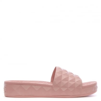 Splash Pink Studded Chunky Sliders