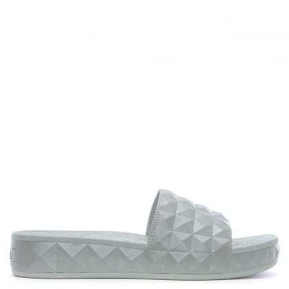 Splash Silver Studded Chunky Sliders