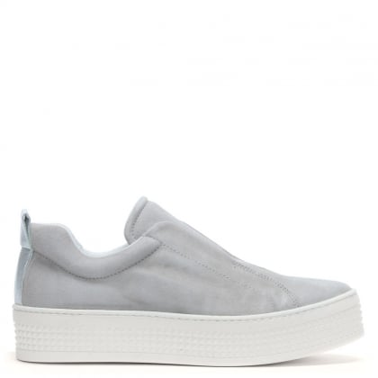 dc43be8d8d6b2 Spooks Grey Suede Laceless Pumps