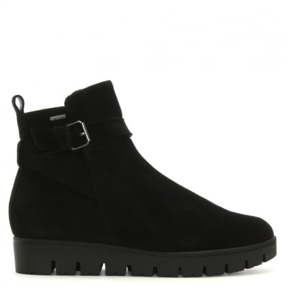 Sports Back Suede Ankle Boots