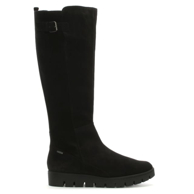 Hogl Sports Black Suede Knee High Boots