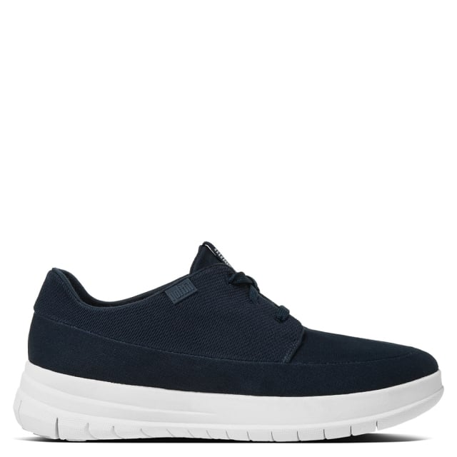 Sporty Pop Navy Canvas Trainers