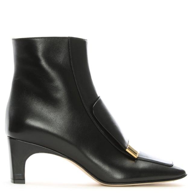 97e1c3e02938 Sergio Rossi SR 1 60 Black Leather Ankle Boots