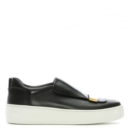 SR 1 Addict Black Leather Sneakers