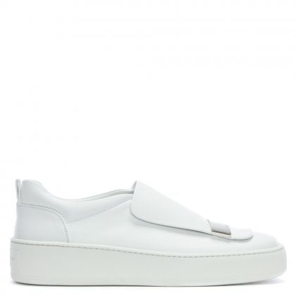 SR 1 Addict White Leather Sneakers
