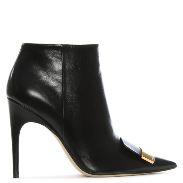 Sergio Rossi SR1 105 Black Leather Ankle Boots