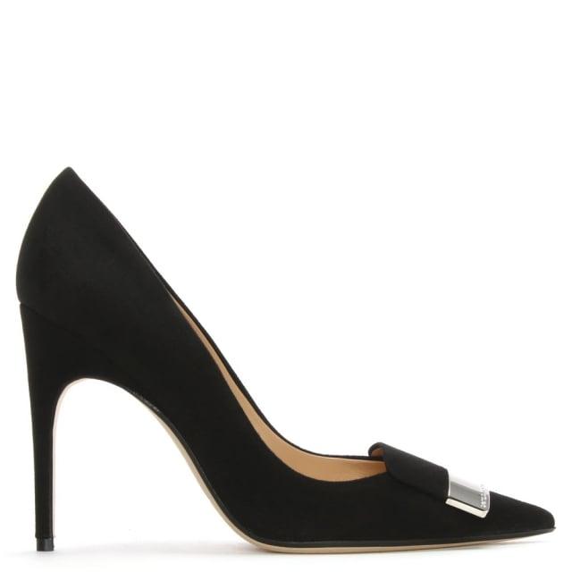 Sergio Rossi SR1 105 Black Suede Court Shoes