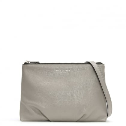 Standard Smoke Grey Leather Cross-Body Bag