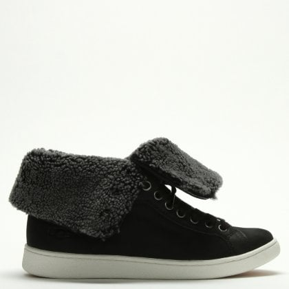 Starlyn Black Suede High Top Trainers