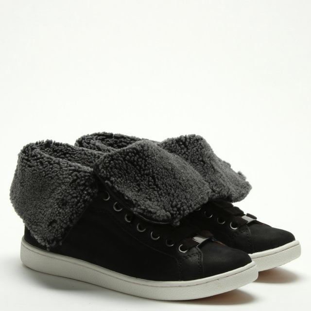 04d3fcfde24469 UGG Starlyn Black Suede High Top Trainers