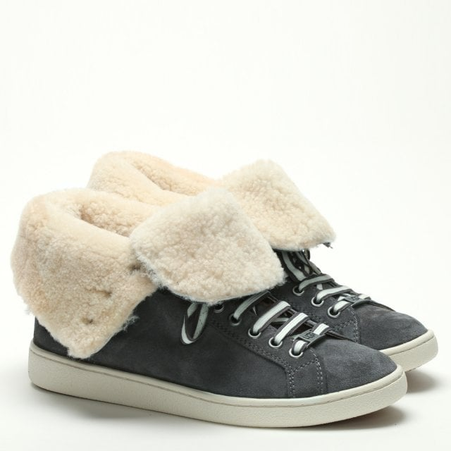 f61a3038bc4ce1 UGG Starlyn Charcoal Suede High Top Trainers