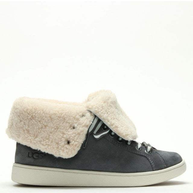 689db720a0e Starlyn Charcoal Suede High Top Trainers