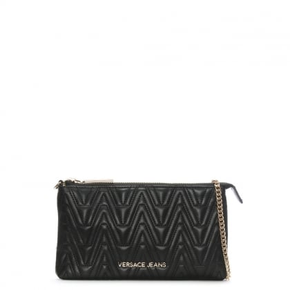 Steph Black Quilted Mini Cross-Body Bag