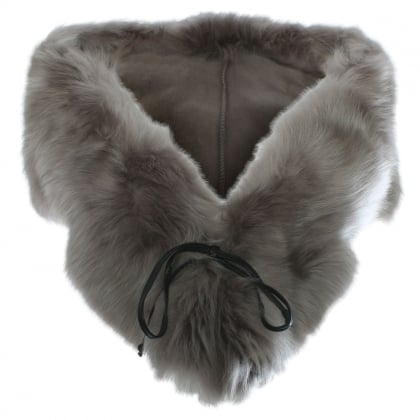 Stormy Grey Sheepskin Shrug