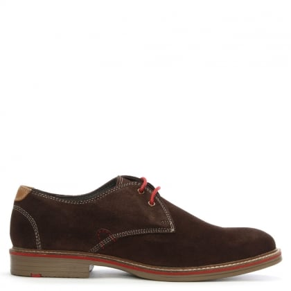 Strada Brown Suede Lace Up Shoes