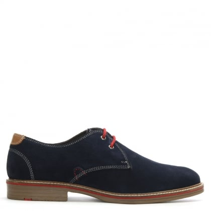 Strada Navy Suede Lace Up Shoes