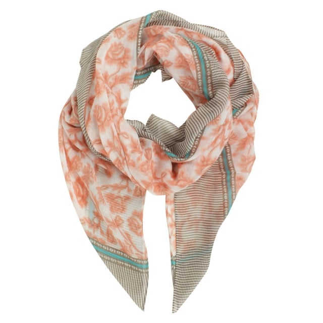 Stripe Patterned Pink Scarf