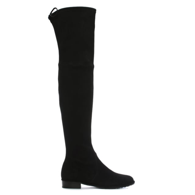 Stuart Weitzman Stuart Weitzman Black Suede Lowland Over The Knee Boots