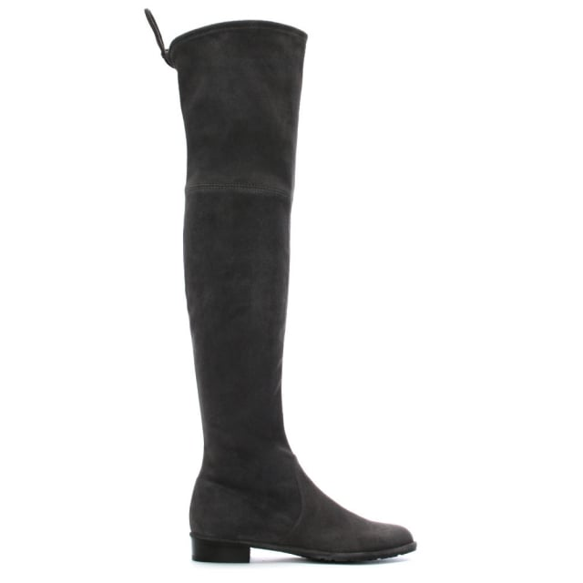 Stuart Weitzman Stuart Weitzman Grey Suede Lowland Over The Knee Boots