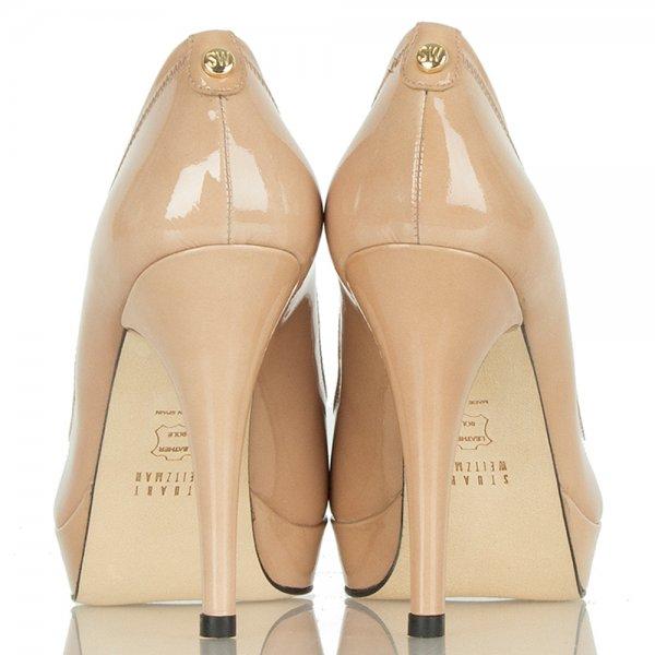 9df51d29d440 Stuart Weitzman Nude Tipanignon Women s Peep Toe Shoe