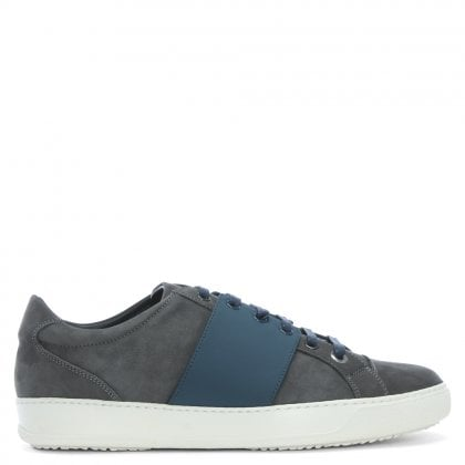 Sub Terranian Silver Textured Leather Lace Up Trainers