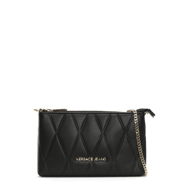 Suite Mini Black Quilted Cross-Body Bag