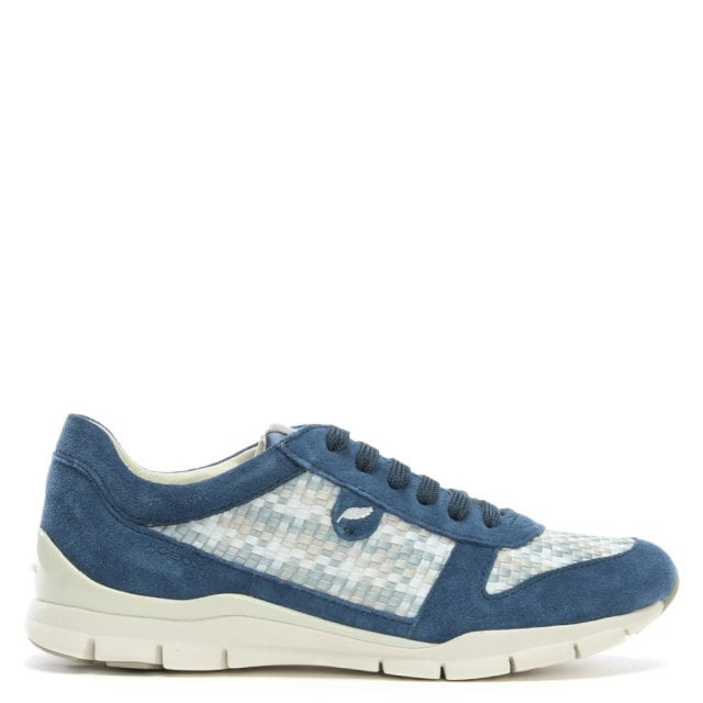 san francisco 3f418 63a2a Sukie Blue Woven Lace Up Sneakers