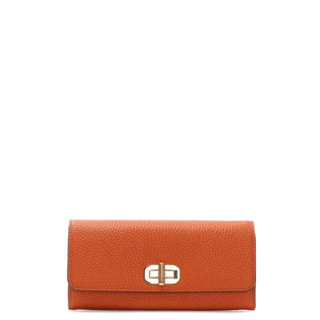 56d0e9c5c568 Michael Kors Sullivan Large Orange Leather Carryall Wallet