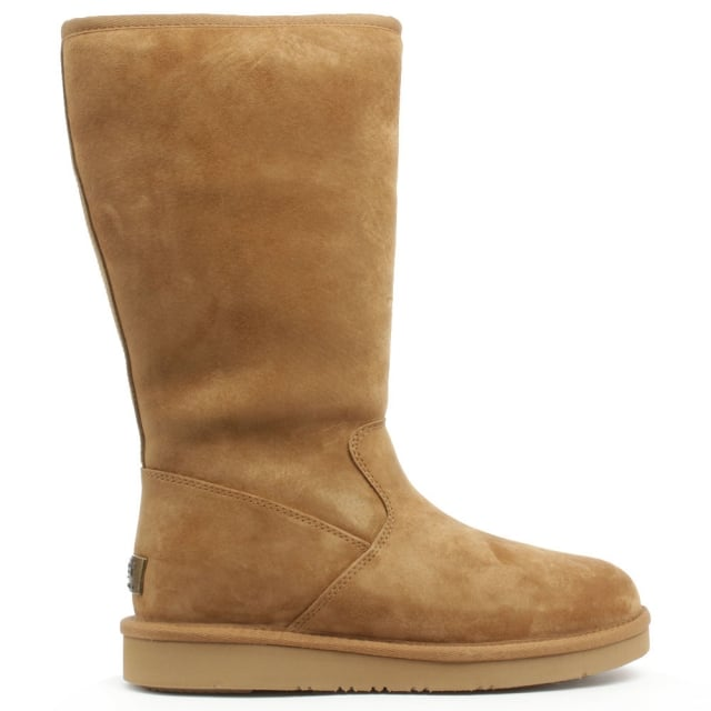 72a7436e803 Sumner Tall Tan Suede Zip Boot