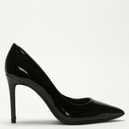 1d9e60ef57c Suncrambe Black Patent Leather Court Shoes