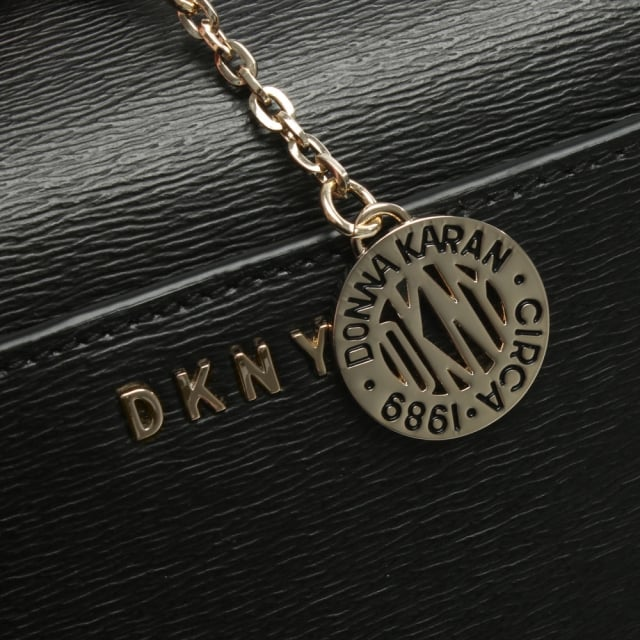 392b271569ae DKNY Sutton Black Leather Box Cross-Body Bag