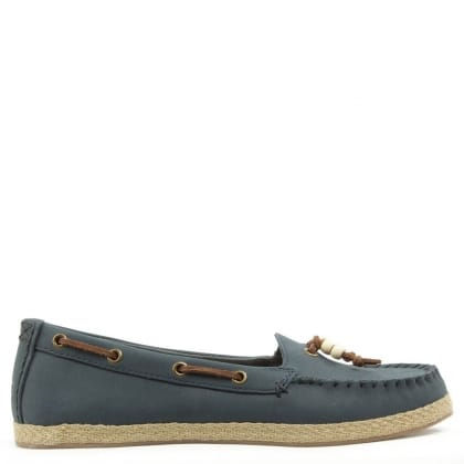 UGG Suzette Navy Moccasin Shoe