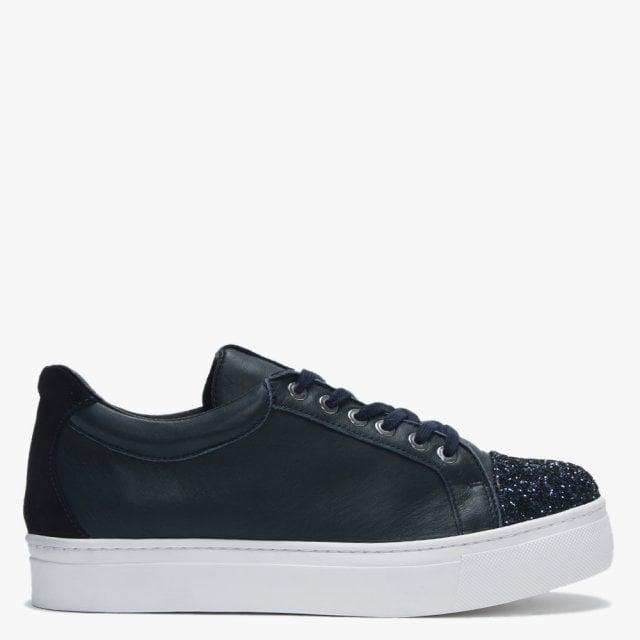 Daniel Svenja Navy Leather Glitter Toe