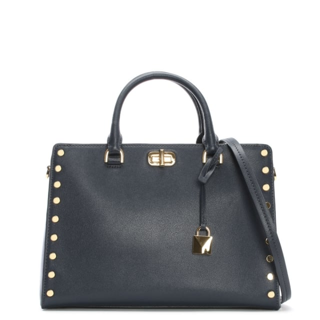 Sylvie Admiral Leather Satchel Bag