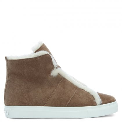 Talbot Tan Suede High Top Trainers