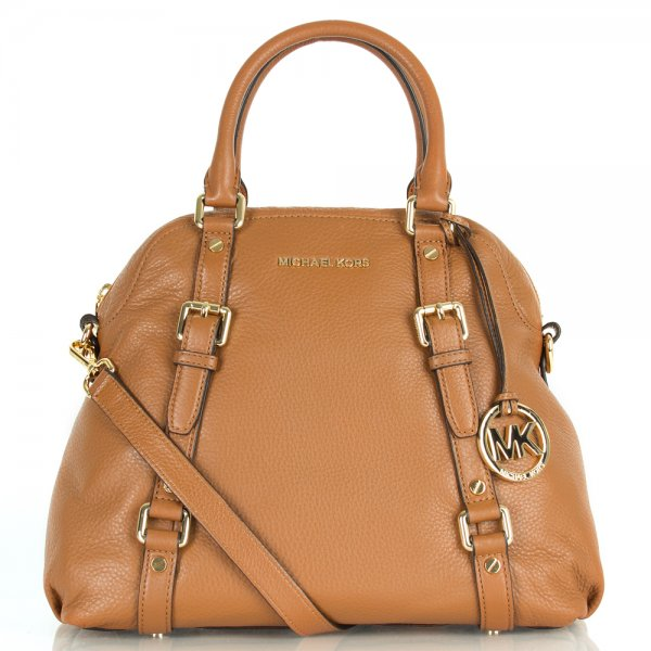 45ec441e185e Michael Kors Tan Bedford Bowling Satchel Women s Bag