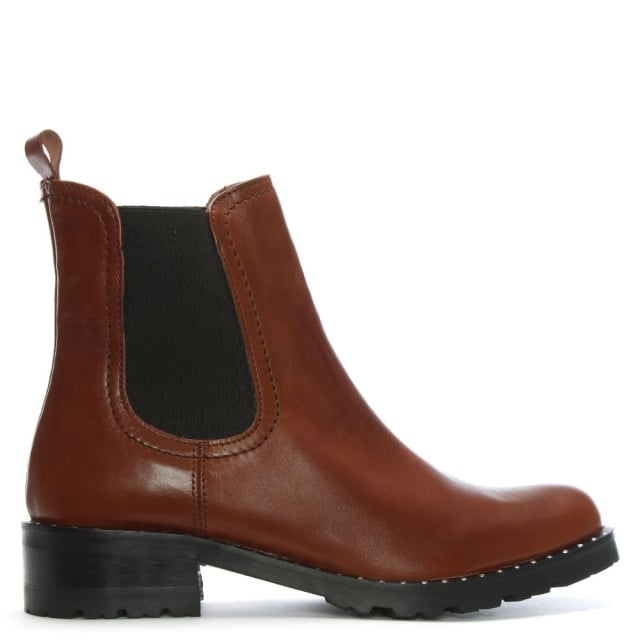 Lamica Tan Leather Chelsea Boots