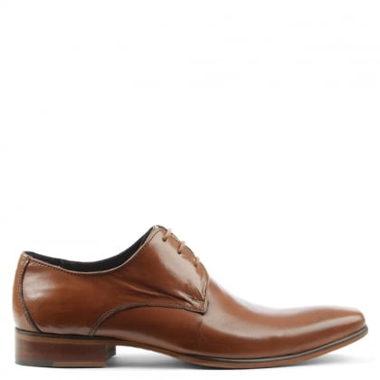 Tan Leather Classic Lace Up Dress Shoe