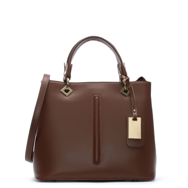 Tan Leather Day Bag