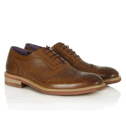 Tan Leather Gucinari Jay Jay 244 Lace Up Brogue