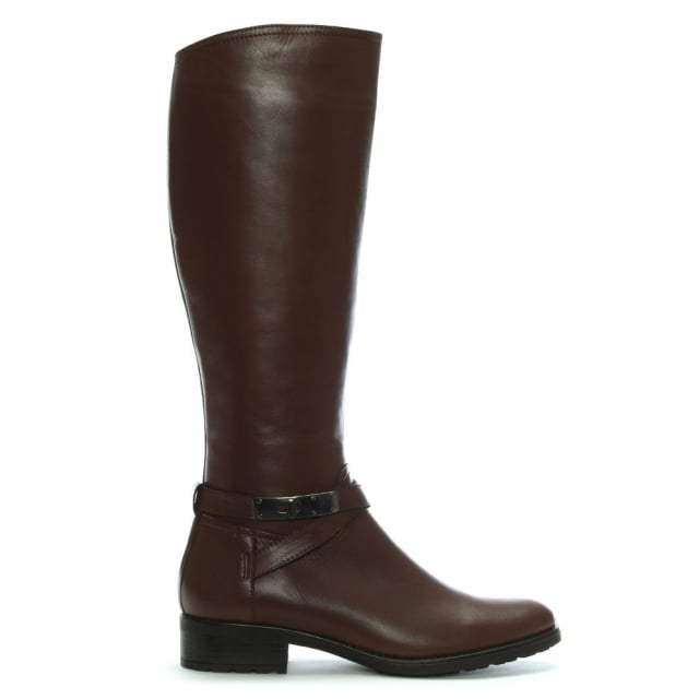 Lamica Tan Leather Knee Boots