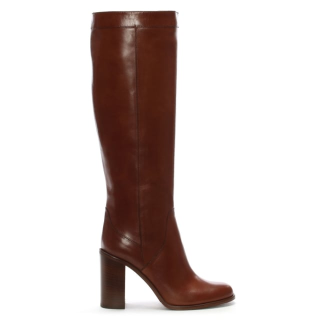 Lamica Tan Leather Knee High Boots