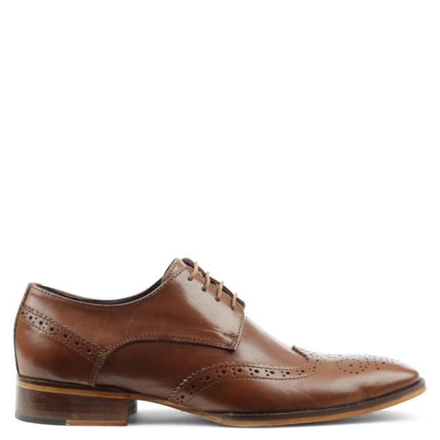 Tan Leather Lace Up Brogue