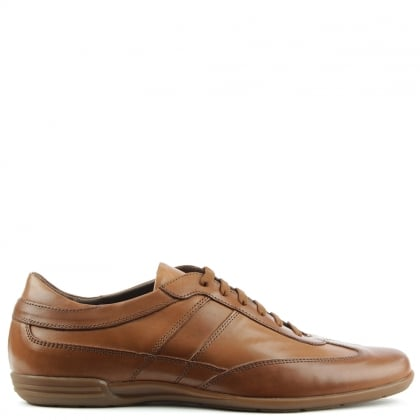 Tan Leather Lace Up Casual Shoe