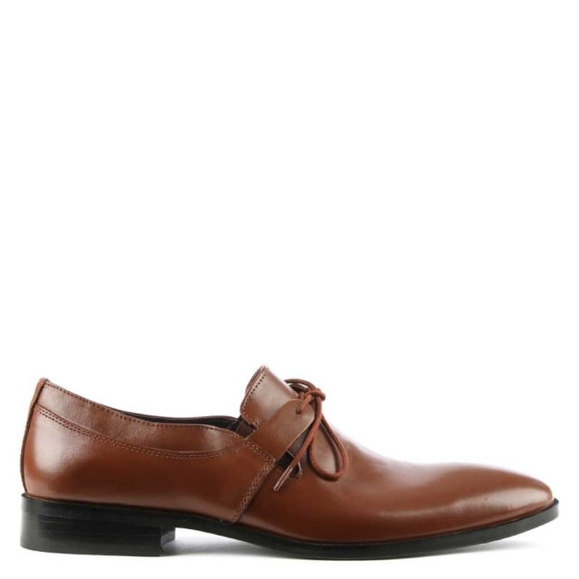 Tan Leather Lace Up Dress Shoe