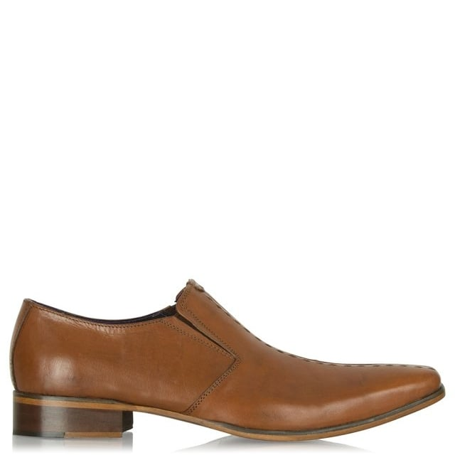 Tan Leather Slip On Shoe