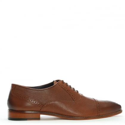 Tan Leather Textured Brogues
